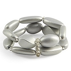 Phase Eight - Metallic fay wooden bead bracelet