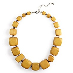 Phase Eight - Yellow celia wooden bead necklace