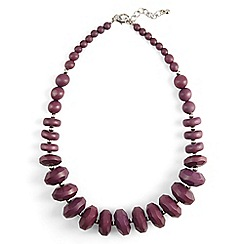 Phase Eight - Purple carris wooden bead necklace