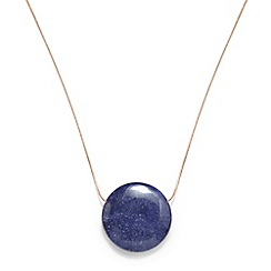Phase Eight - Rose Gold arlet blue bead long necklace