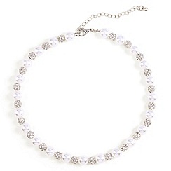 Phase Eight - Grey avalia pearl and pave necklace