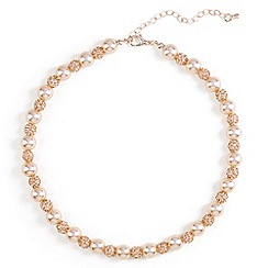 Phase Eight - Natural bettina pearl and pave necklace