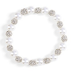 Phase Eight - Grey avalia pearl and pave bracelet