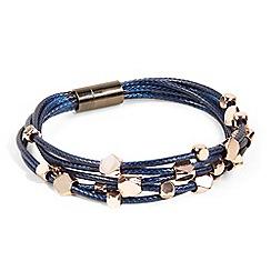 Phase Eight - Blue eleanor cord multirow bracelet