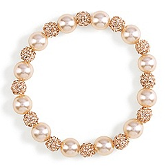 Phase Eight - Natural bettina pearl and pave bracelet