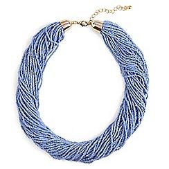 Phase Eight - Blue harley bead multirow necklace