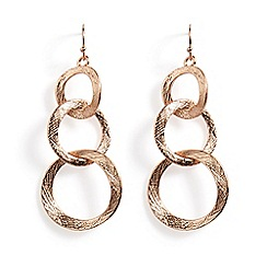 Phase Eight - Elodine textured link drop earrings