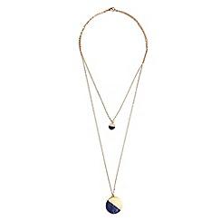 Phase Eight - Metallic emilia double row stone necklace