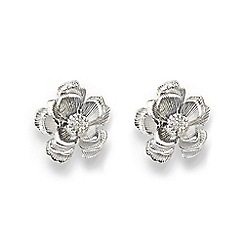 Phase Eight - Metallic aya formed flower stud earrings