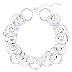 Phase Eight - Metallic amalia multi ring short necklace