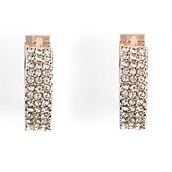 Phase Eight - Natural lynne stone front hoop earrings