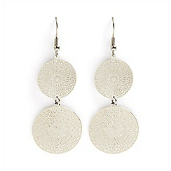 Phase Eight - Metallic lillia double filagree drop earrings