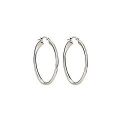 Phase Eight - Sterling Silver Double Wrap Oval Hoop Earrings