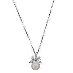 Phase Eight - Freshwater Pearl Cubic Zirconia Pendant Necklace