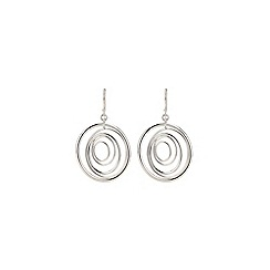 Phase Eight - Sterling Silver Multi Ring Earrings