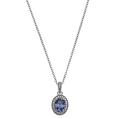 Phase Eight - Cubic Zirconia Oval Pendant Necklace