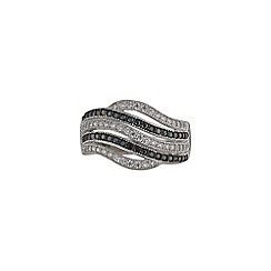 Phase Eight - Cubic Zirconia Wave Ring