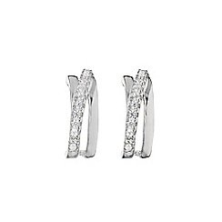 Phase Eight - Cubic Zirconia Cross Over Stud Earrings