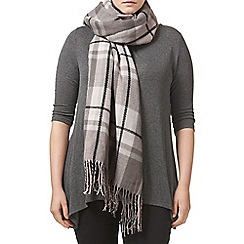 Studio 8 - Charcoal and Pink check scarf