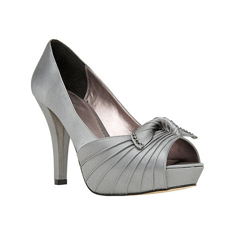 Phase Eight - Charcoal Edie Platform Peep Shoes
