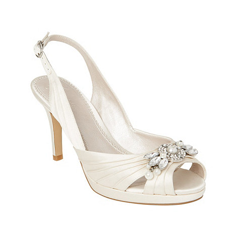 Phase Eight - Ivory jewel trim pleated shoes