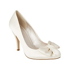 Phase Eight - Ivory bow detail satin court shoes