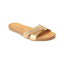 Phase Eight - Gold polly leather sandals