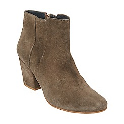 Phase Eight - Taupe mollie suede ankle boots