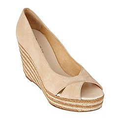 Phase Eight - Nude jasmin espadrille wedge shoes