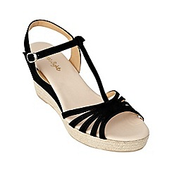Phase Eight - Black lilian espadrille wedge sandals