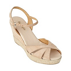 Phase Eight - Nude dahlia espadrille wedge sandals