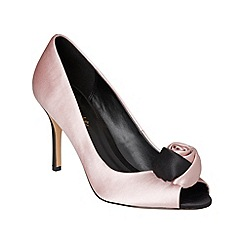 Phase Eight - Black and confetti renee satin peep toe shoes