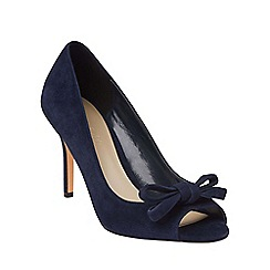 Phase Eight - Navy elena suede peep toe shoes