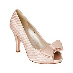 Phase Eight - Nude annabel satin weave peep toe shoes