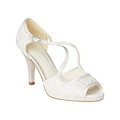 Phase Eight - Ivory ruby lace peep toe shoes