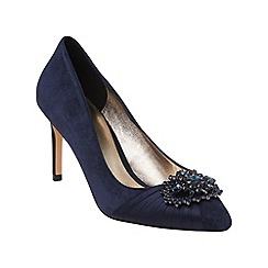 Phase Eight - Midnight darcy jewel suede point court shoes