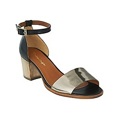 Phase Eight - Pewter talia leather block heel sandals