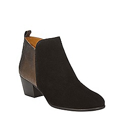 Phase Eight - Black and Bronze maddie ankle boots