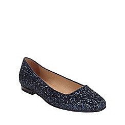 Phase Eight - Midnight lulu glitter flat shoes