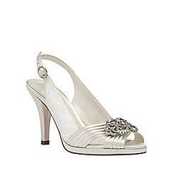 Phase Eight - Jewel Trim Satin Peep Toe Shoes