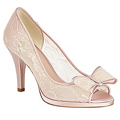 Phase Eight - Poppy Lace Bow Peep Toe Shoes