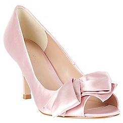 Phase Eight - Petal Eva Satin Peep Toe Shoes