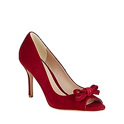 Phase Eight - Elena Suede Peep Toe Shoes