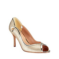 Phase Eight - Annie Leather Peep Toe Shoes