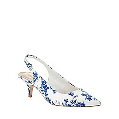 Phase Eight - Flower Print Sling Back Kitten Heels