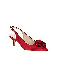 Phase Eight - Alana Frill Satin Kitten Heel Shoes