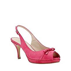 Phase Eight - Magenta elle leather peep toe shoes