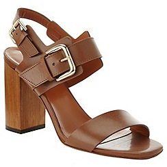 Phase Eight - Tan Caz Leather Block Heel Sandals