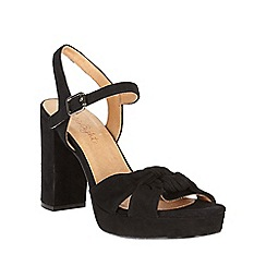 Phase Eight - Black Jennie Leather Platform Sandals