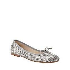 Phase Eight - Textured Leather Ballerina Shoes